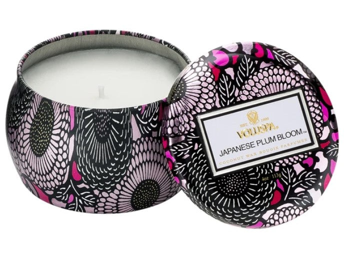 Voluspa Japanese Plum Bloom Petite Tin Candle