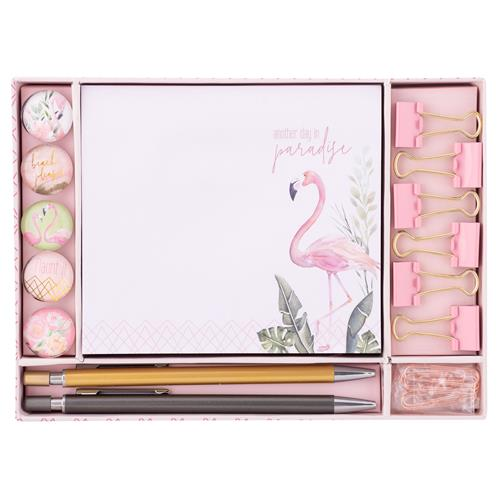 Karma Gifts Stationery Set- Flamingo