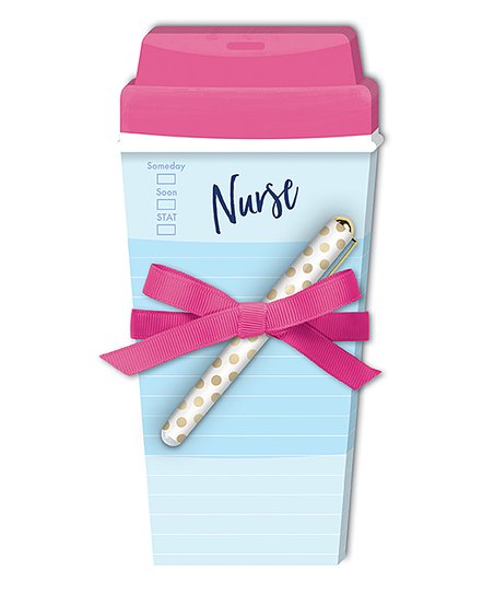 Lady Jayne 'Nurse Coffee Cup' Notepad and Pen