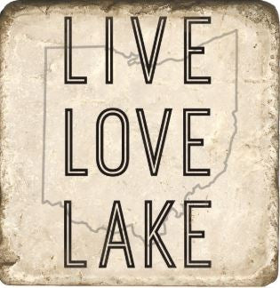 Live Love Lake Ohio Marble Coaster