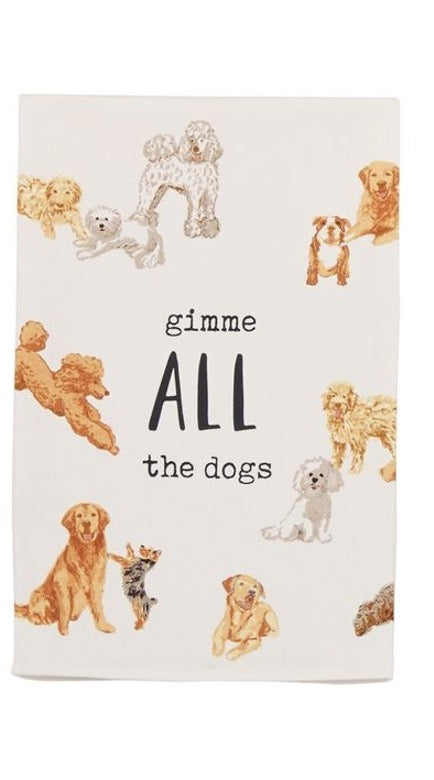 Gimme All the Dogs Kitchen Towel