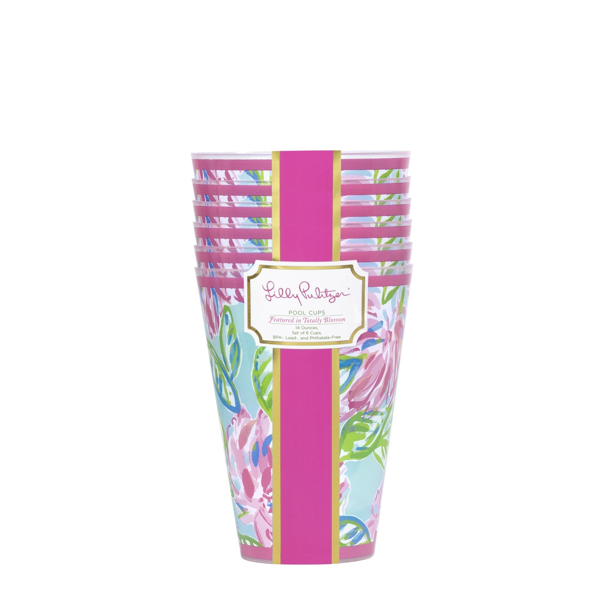 Lilly Pullitzer Pool Cups, Totally Blossom