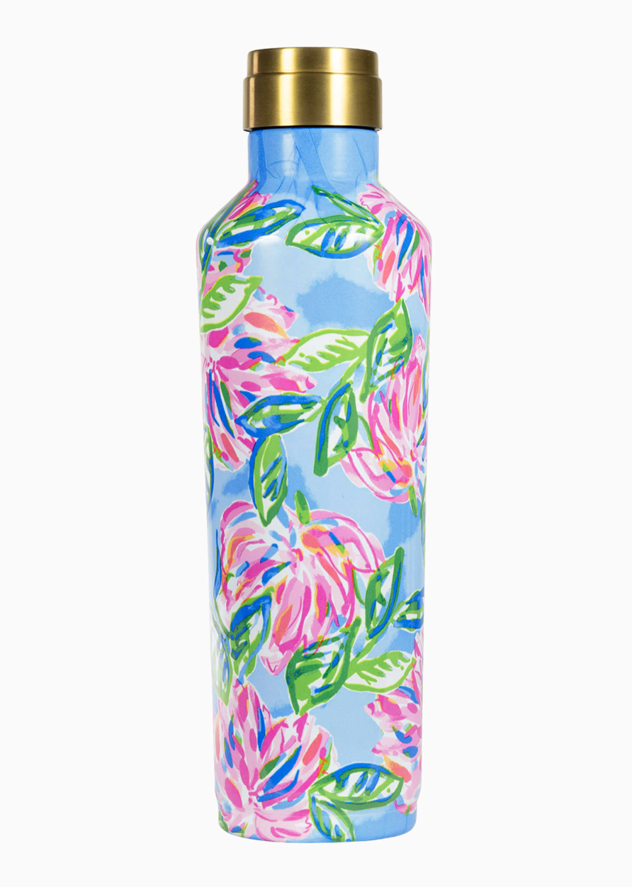 Lilly Pulitzer Stainless Steel Canteen, Totally Blossom