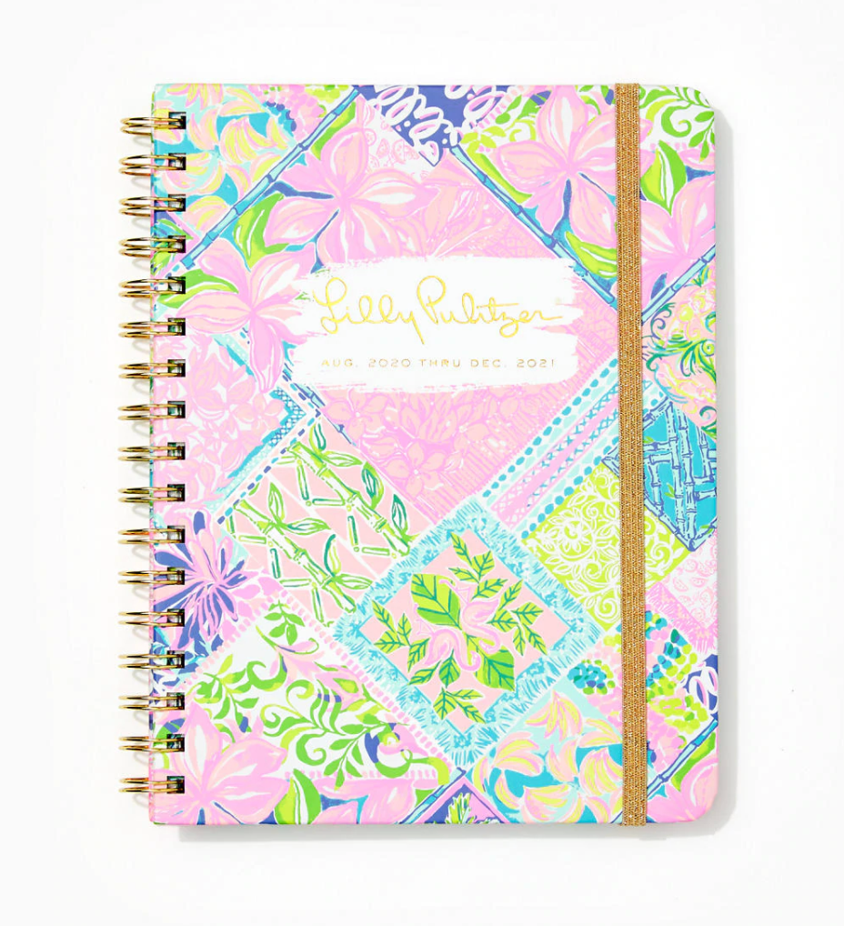 2020-2021 Large Monthly Planner - 17 Month, Multi Block Party