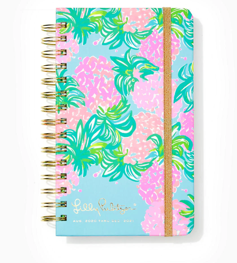 2021 Lilly Pulitzer 17 Month Medium Agenda, Pineapple Shake