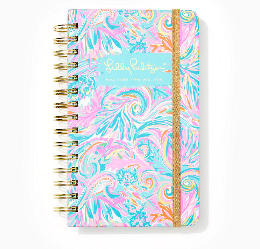 2021 Lilly Pulitzer 17 Month Medium Agenda, Carnivale Coral