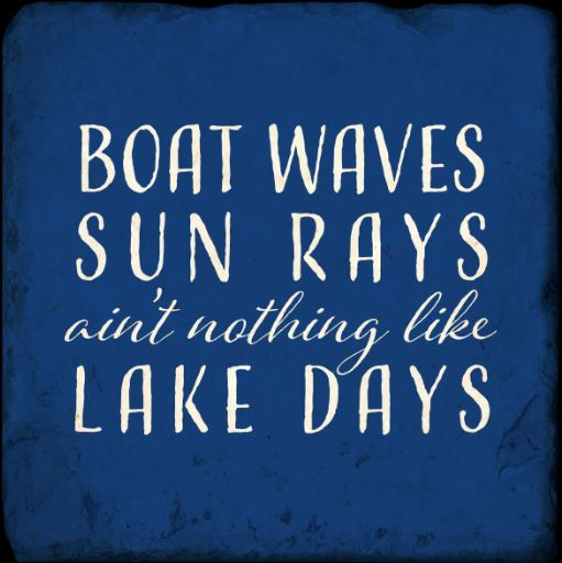 Boat Waves Lake Days Marble Coaster