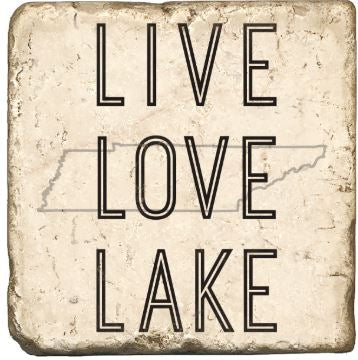 Live Love Lake Tennessee Marble Coaster