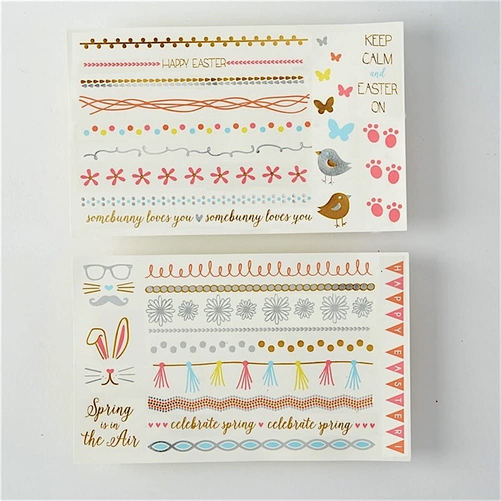 Two's Company Spring Sparkle Egg Decals