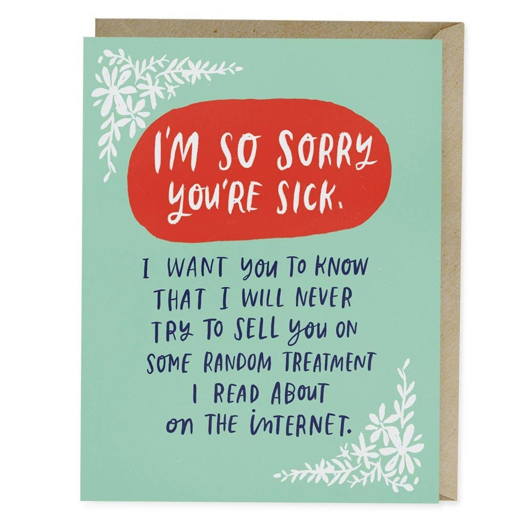 Treatment on the Internet Empathy Greeting Card