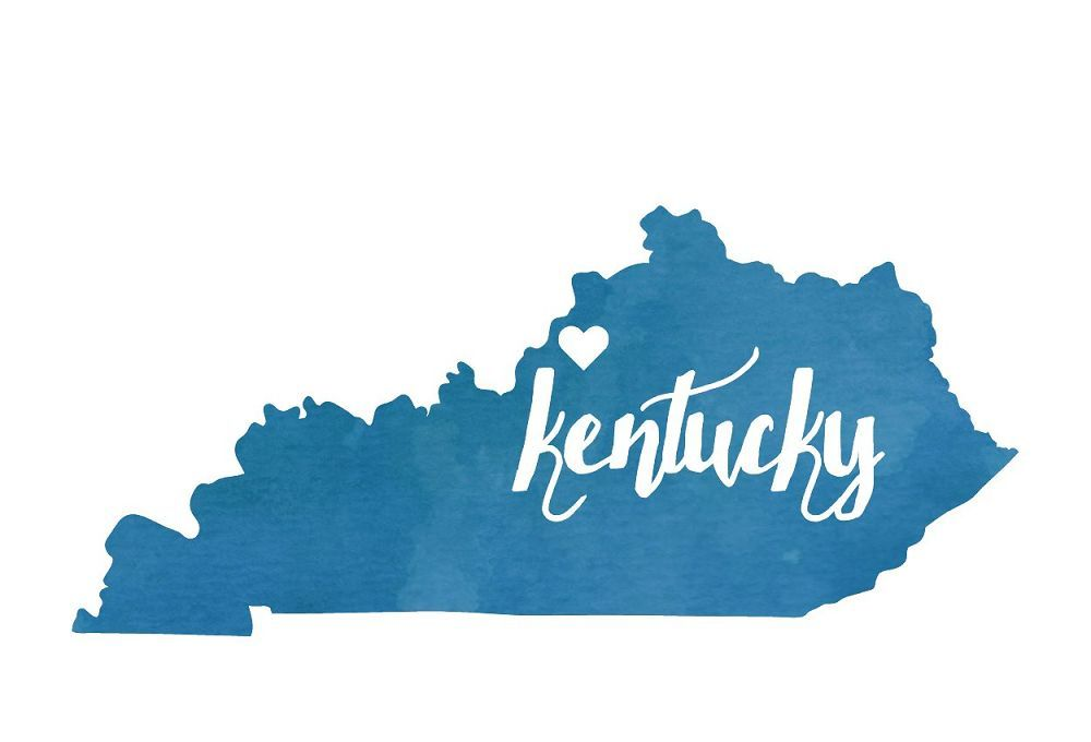 MHC - BW Heart Kentucky Postcard