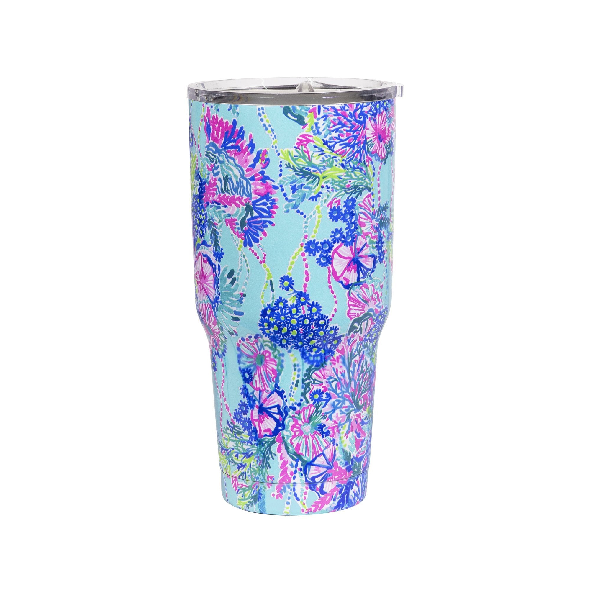 lilly pulitzer stainless steel insulated tumbler, beach you to it (30 oz)