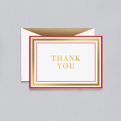 William Arthur Candy Stripe Thank You Note