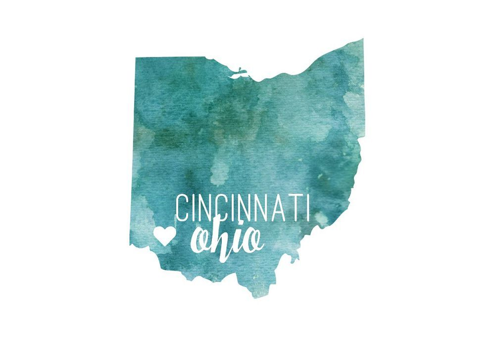 Teal Watercolor Ohio Postcard
