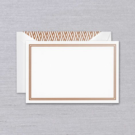 Crane Copper Foil Double Frame Card