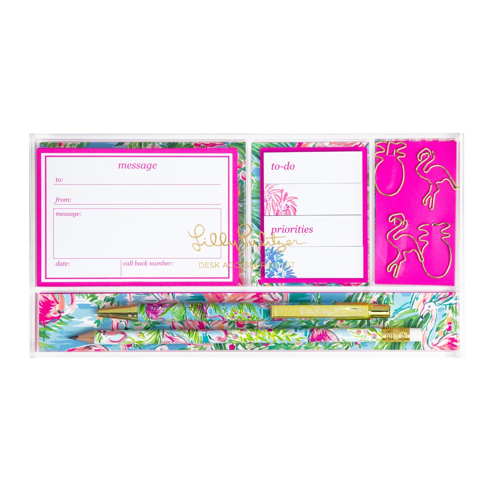 Lilly Pulitzer Desk Accessories Set, Floridita