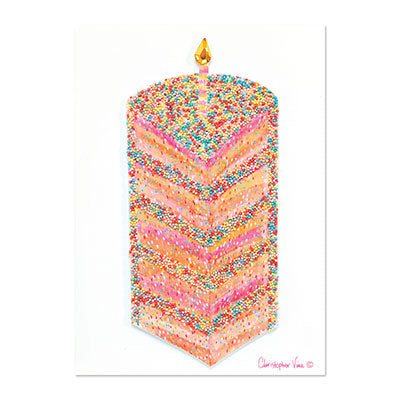 Tall Cake Slice Greeting Card