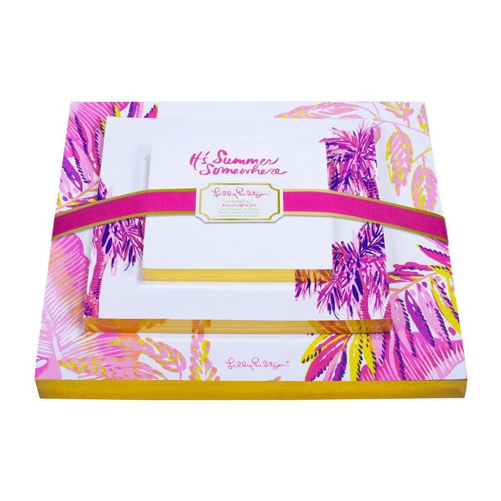 Lilly Pulitzer Notepad Set, Off The Grid
