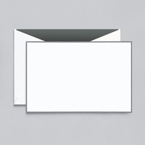 Crane Charcoal Bordered Correspondence Card