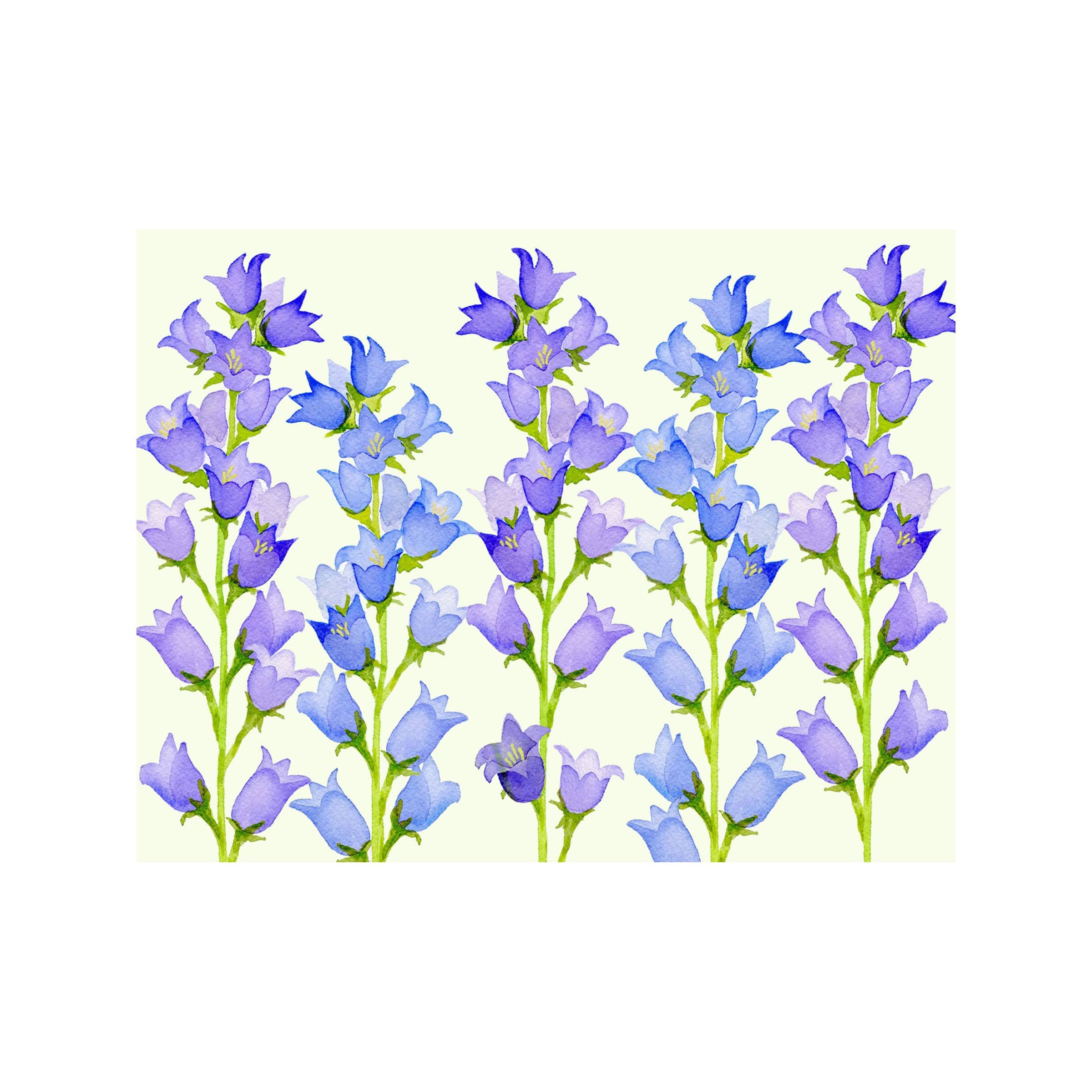 Bellflower Floral Folded Note Card