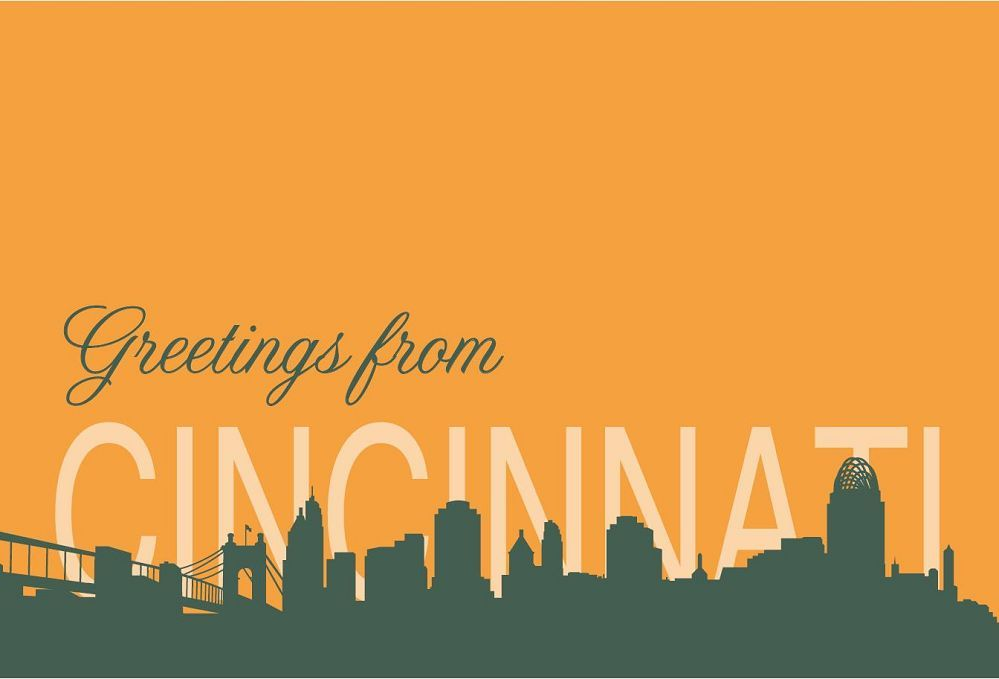 Greeting Cincinnati Postcard
