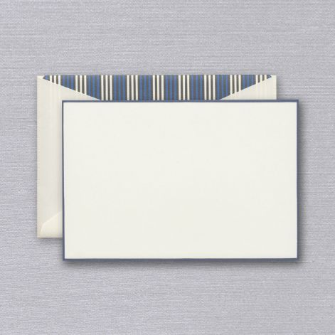 Crane French Blue Bordered Card