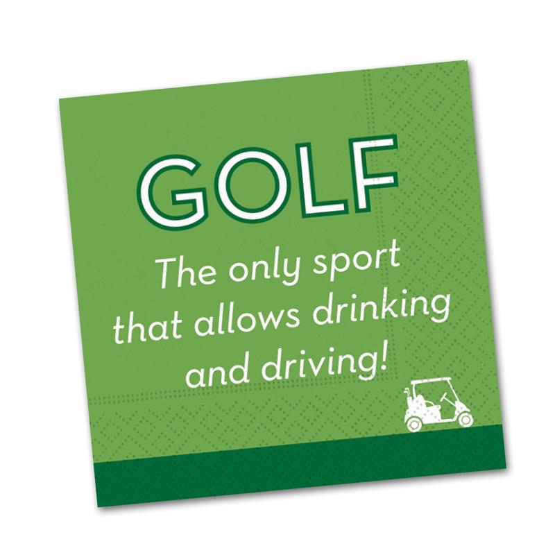 Golf Drink and Drive Cocktail Napkin