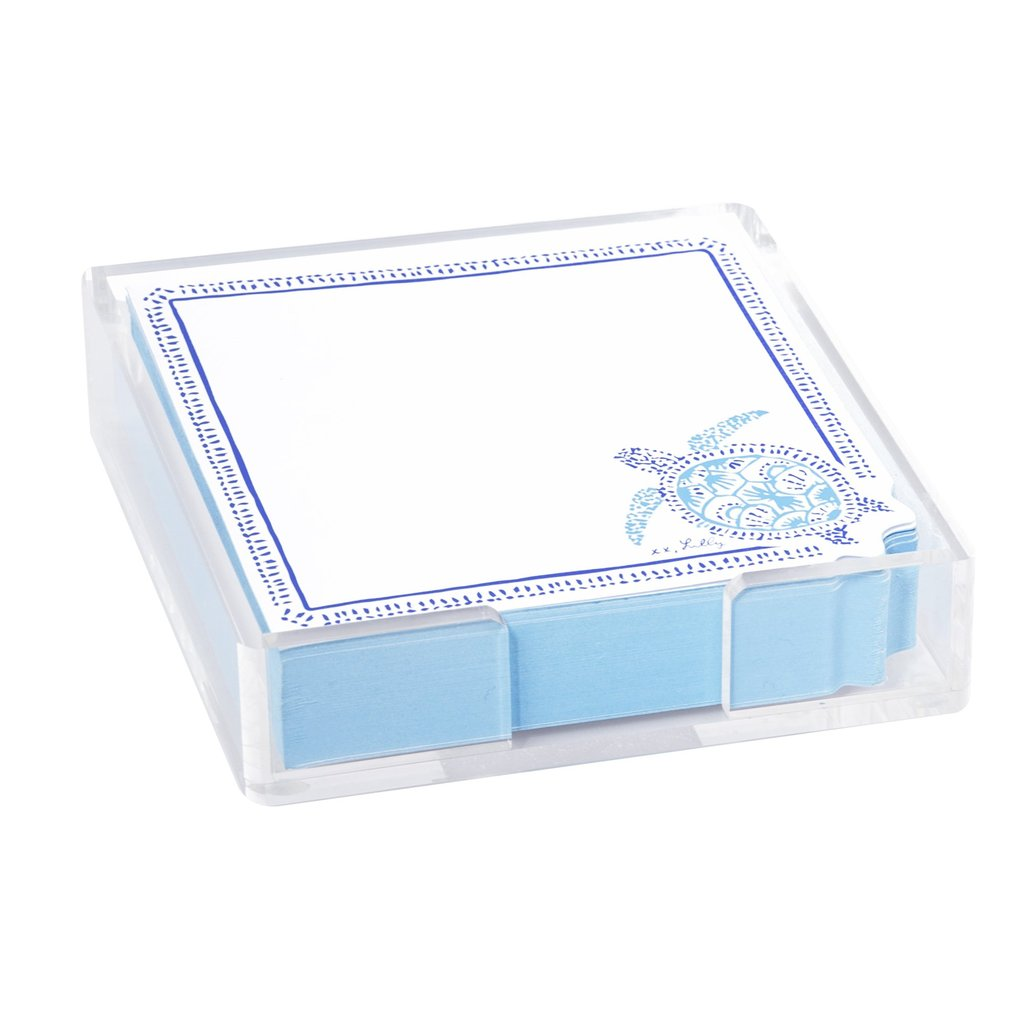 Lilly Pulitzer small list pad, Turtley Awesome