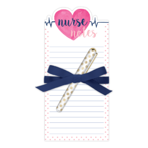 Lady Jayne 'Nurse Heart' Notepad and Pen