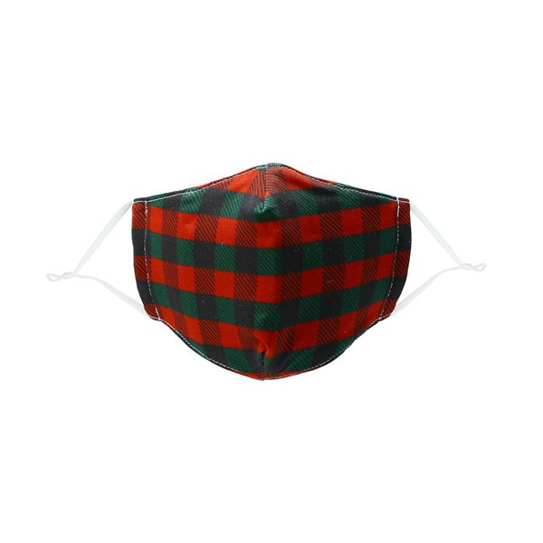 Kid's Holiday Plaid Fabric Mask