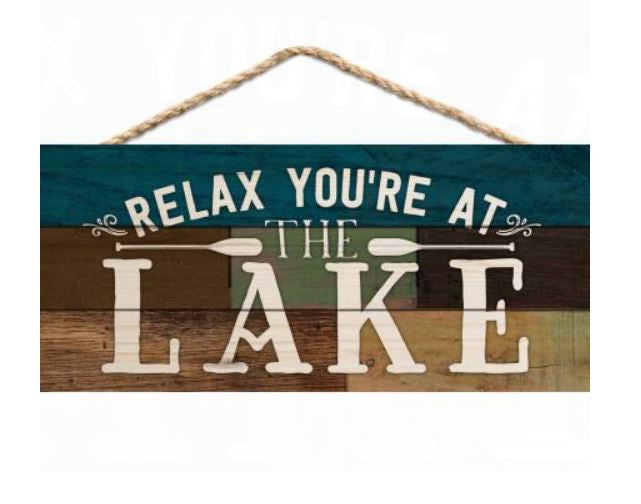 Relax, You're At The Lake Hanging Decor