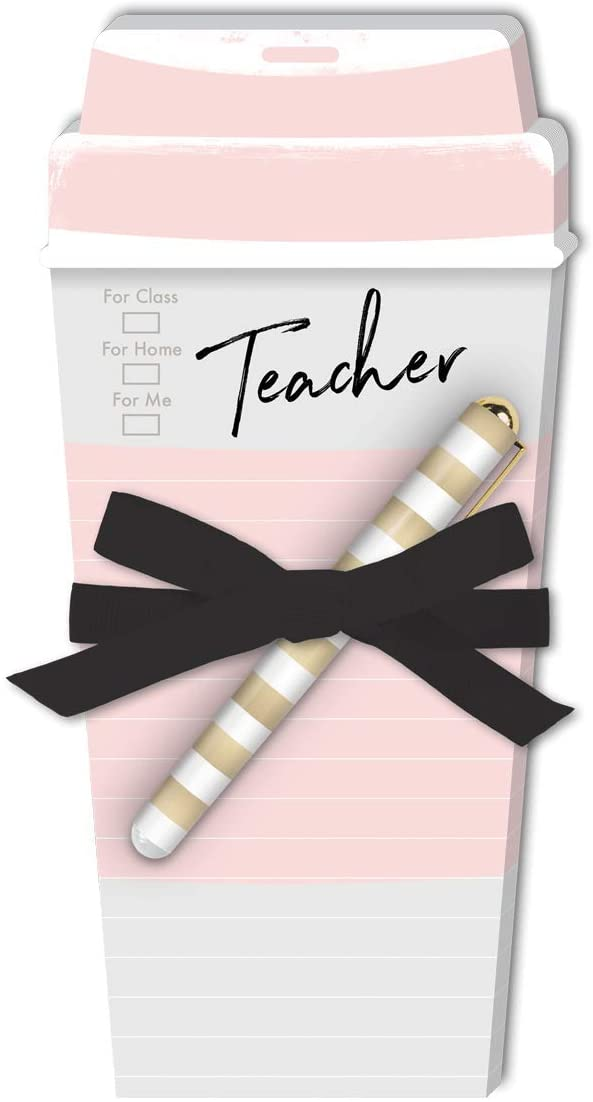 Lady Jayne 'Teacher Coffee Cup' Notepad with Pen