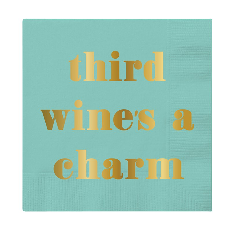 Third Wines a Charm Cocktail Napkin