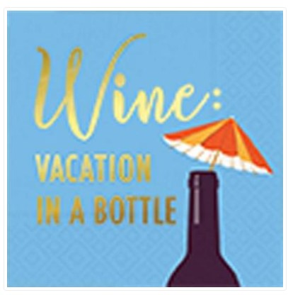 Vacation In A Bottle Cocktail Napkin