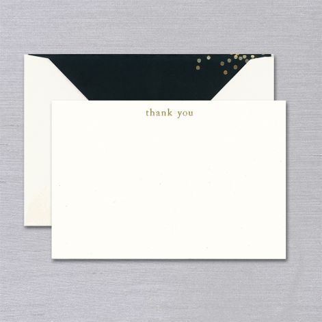 Vera Wang Engraved Confetti Thank You Card