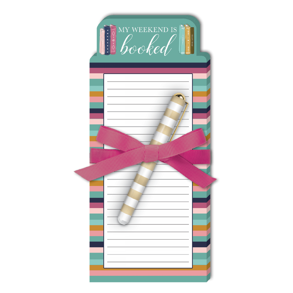 Lady Jayne 'Weekend is Booked' Notepad with Pen