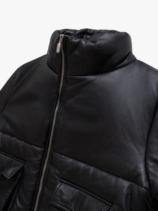 LEATHER PUFFER JACKET