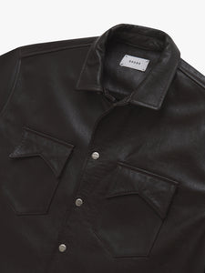 LEATHER SNAP SS SHIRT