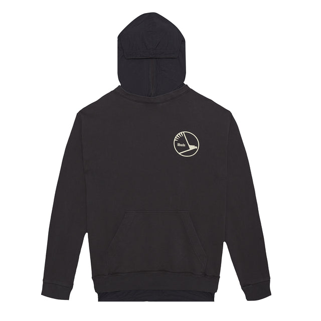 Layered French TerryNylon Hoodie