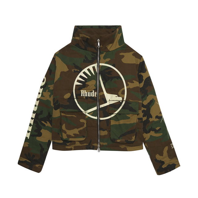 RHUDE COLLAGE CAMO PUFFER
