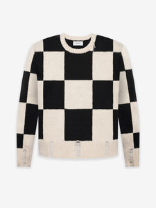 HAND KNIT SWEATER - CHECKERS LOGO