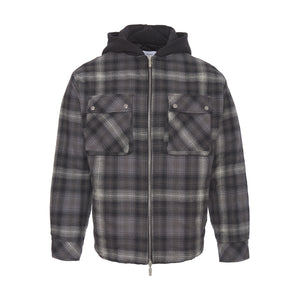 Shadow Plaid Puffer