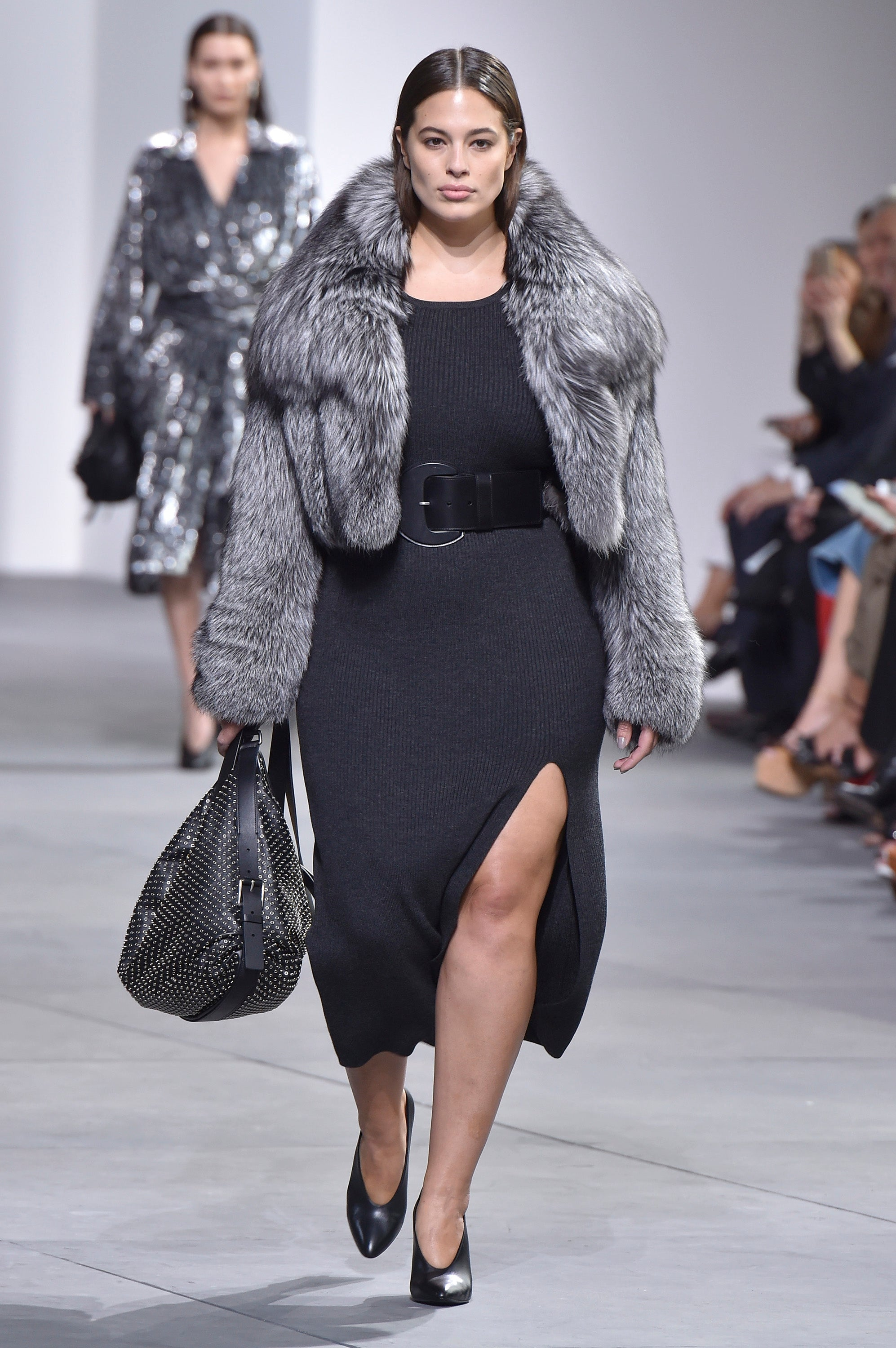 Ashley Graham walks the runway at the Michael Kors Collection Fall 2017 show in New York City.