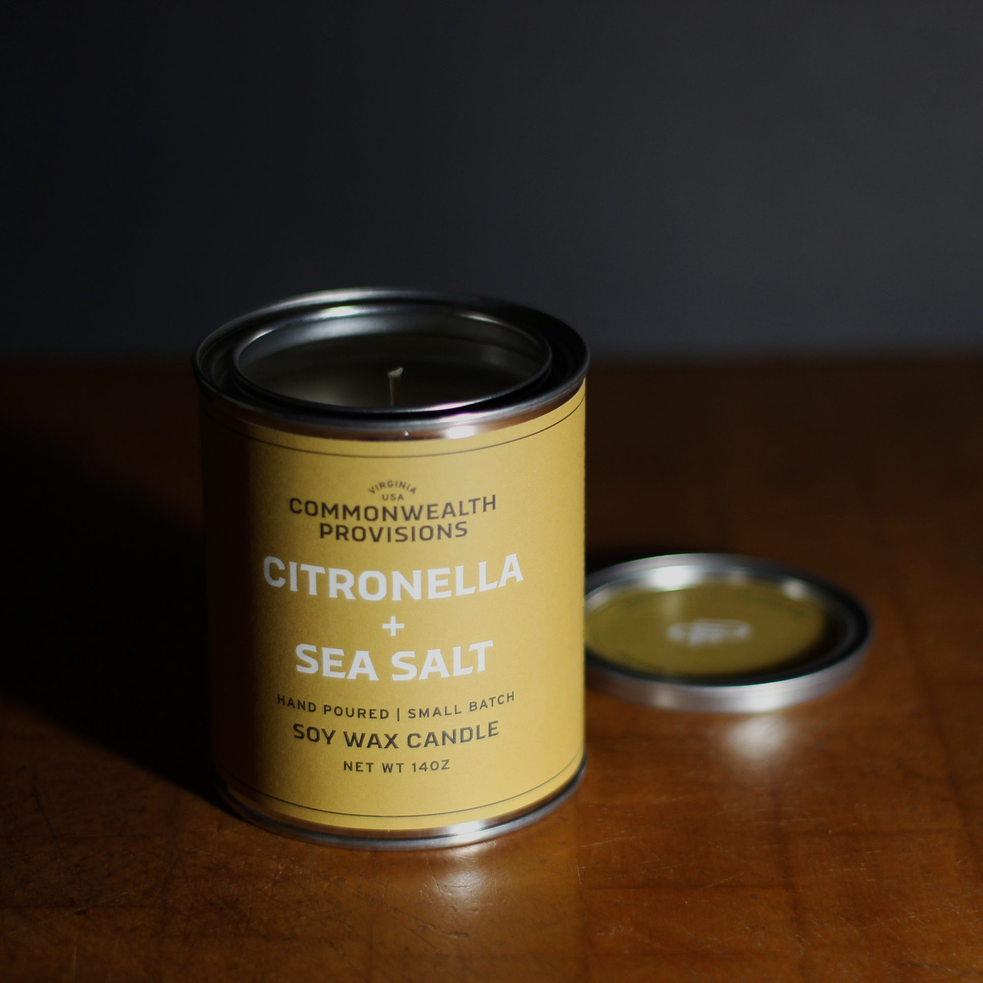 Commonwealth Provisions Citronella + Sea Salt Candle