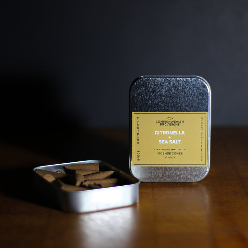Commonwealth Provisions Citronella + Sea Salt Incense Cones