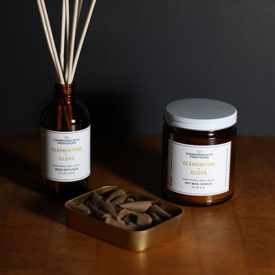 Commonwealth Provisions Clementine + Clove Scent Collection Gift Set