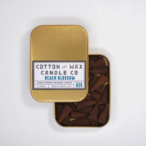 Cotton and Wax Provisions Incense Cones Beach Blossom