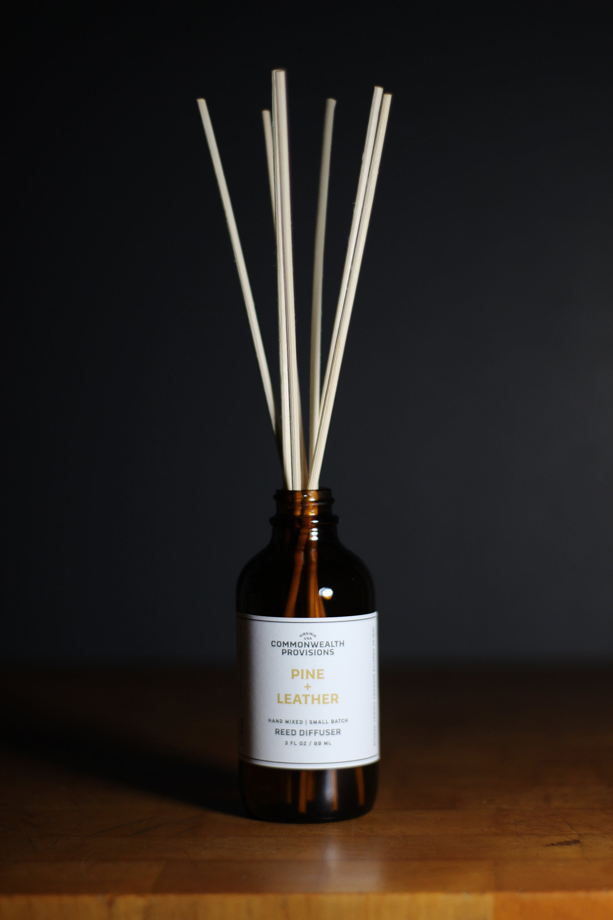 Commonwealth Provisions Pine + Leather Reed Diffuser