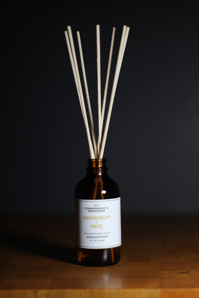 Commonwealth Provisions Grapefruit + Sage Reed Diffuser