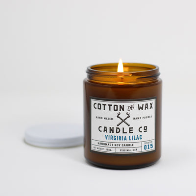 Cotton and Wax Candle Co. Virginia Lilac Scented Soy Candle